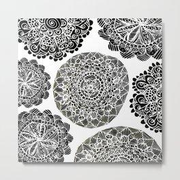Mandala Mazes Metal Print