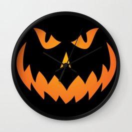 Halloween Pumpkin Face #2 Wall Clock