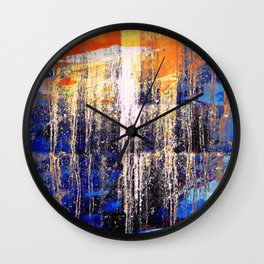 Golden Dawn, Abstract Landscape Art Wall Clock