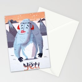 :::Happy Yetis::: Stationery Cards
