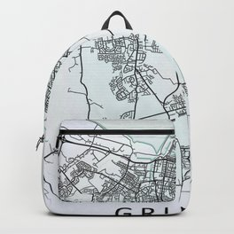 Grimsby, England, City Map Backpack