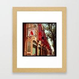 Fenway Gate A Framed Art Print