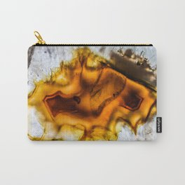 Honey Amber Agate frozen in time Carry-All Pouch