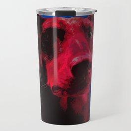 Majestic Doberman. Pop art dog. Travel Mug