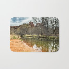 Cathedral Rock from Red Rock Crossing Bath Mat