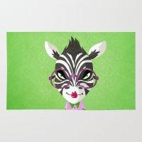 sassy Area & Throw Rugs featuring Sassy Zebra by Marcia Mailoa