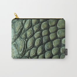 Crocodile Skin Texture Carry-All Pouch