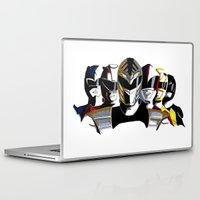 power rangers Laptop & iPad Skins featuring Power Rangers by SquidInkDesigns
