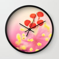 hibiscus Wall Clocks featuring Hibiscus by Laura Ruth