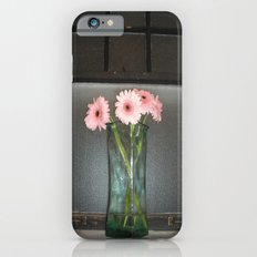 pink daisies ~ flowers on vintage sill Slim Case iPhone 6s