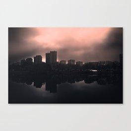 Sleeping in the dark Canvas Print