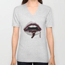 Avidità / Greed - Blood Lips - Mouth Unisex V-Neck