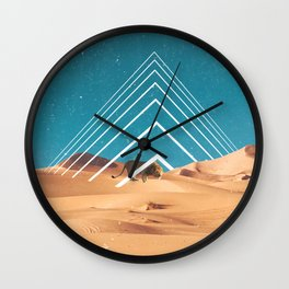 The Lion in the Desert Wall Clock