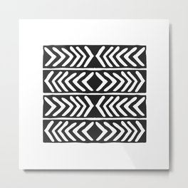 Tribal Print B&W- 04 Metal Print