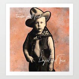 T Boone Loyal and True Art Print