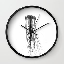 Jellyfish Silhouette Wall Clock