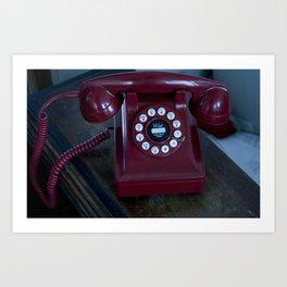 Red Phone Art Print