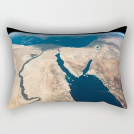 The Nile and the Sinai, to Israel and beyond. One sweeping glance of human history Rectangular Pillow