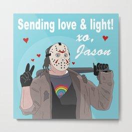 """Jason Voorhees """"Love & Light"""" Metal Print"""