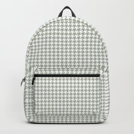 Desert Sage Grey Green and White Houndstooth Check Backpack