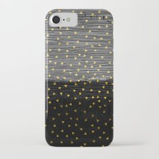 257 4 2 Gold Triangles on Black and Gray Slim Case iPhone 7