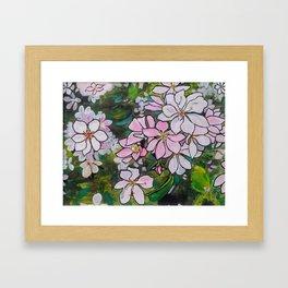 Blushing Blossoms Framed Art Print