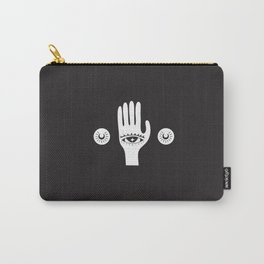 White Third Eye Palm Carry-All Pouch