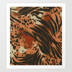 Jungle Fever Animal Print Pattern Art Print