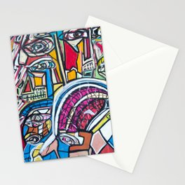 Study For A Face Stationery Cards