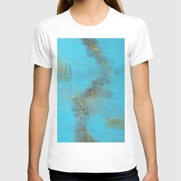 Earth. Texture. Blue. Jodilynpaintings. Brown. Abstract. Earths Crust. T-shirt