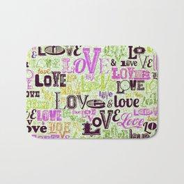 Vintage Love Words Bath Mat