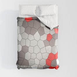 Mosaik grey white red Graphic Comforters