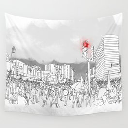 People in the streets Wall Tapestry