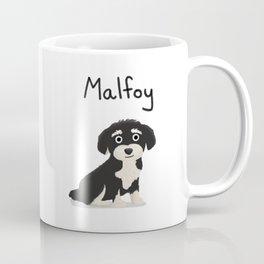 """Custom Dog Art """"Malfoy"""" Coffee Mug"""
