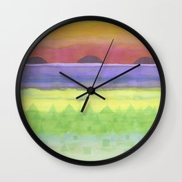 Four times Sunset Wall Clock