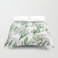 lily Duvet Covers featuring Lily by Julia Badeeva