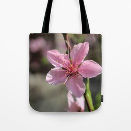 Pink Chinese Flower Tote Bag