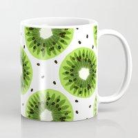 kiwi Mugs featuring Kiwi by beach please