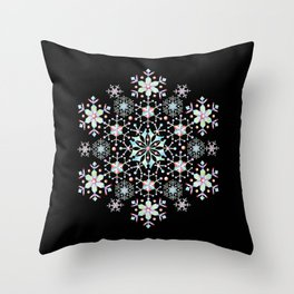 Snowflake Mandala Throw Pillow