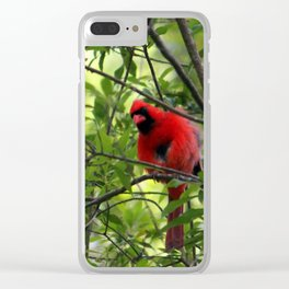 Red Says I See You Clear iPhone Case