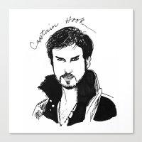 captain hook Canvas Prints featuring Captain Hook by *deim lacquer
