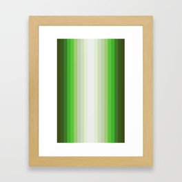 Gradient Stripes Framed Art Print