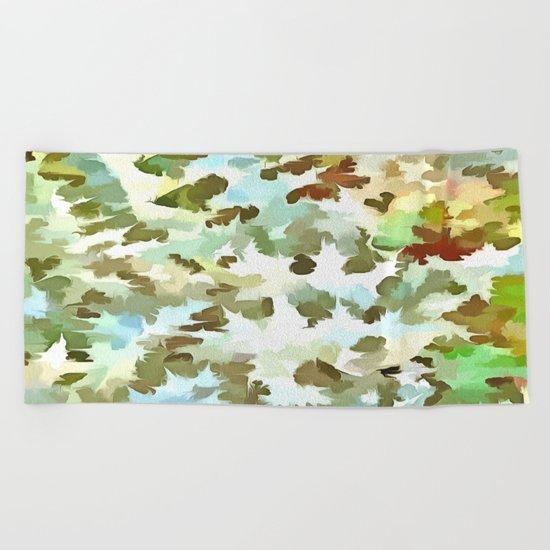Dusty Miller Abstract Pop Art Beach Towel