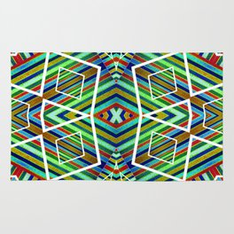 Colorful Geometric Tribal Abstract Pattern Style  Rug