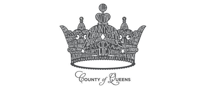 County of Queens | NYC Borough Crown (GREY) Coffee Mug
