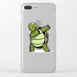 Funny Dabbing Tortoise Pet Dab Dance Clear iPhone Case