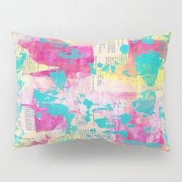 Abstract Mixed Media - Neon Pillow Sham