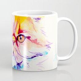 Persian Cat Watercolor Painting Coffee Mug