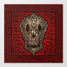 odjaguo skull mandala Canvas Print