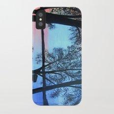 Buffalo lake at night Slim Case iPhone X